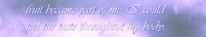 Tantra Massage; Steve's Experience Elite Tantra Tantric  Massage Steve's Experience fruit became part of me