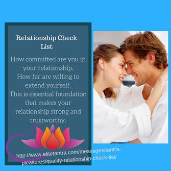 Quality Relationship Check List